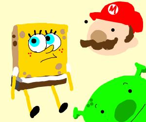 Spongebob, Shrek, and Mario