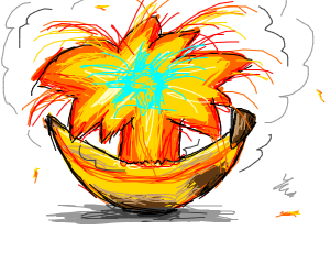 Banana erupts