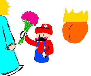 Mario dumps Peach for Rosalina