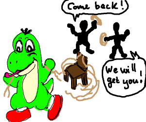 Yoshi escapes from kidnapping