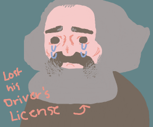 Marx loses his driver's license