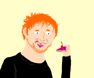 Ed Sheeran Eating Cherry Pie