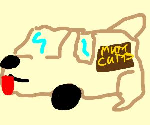 dumb and dumber dog-car