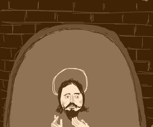 jesus under an arch