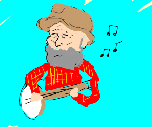 Old Man plays Banjo