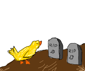 Bird mourns its dead ancestors