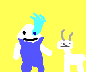 Sans Has a Thing for Goats