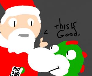 Santa Approves Of Yoshi's Tax Evasion