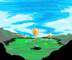 balloon in a field
