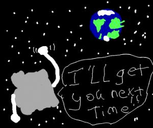 Grey Blob Swearing Revenge On Earth