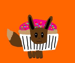 Eevee wants to be a cupcake :3