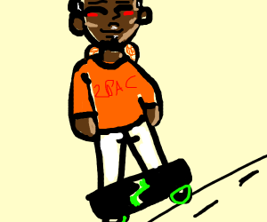black person skateboarding