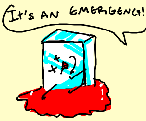 Ice cube emergency!