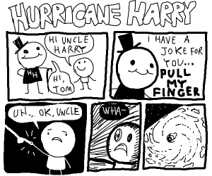Hurricane Harry, a New Comic Character