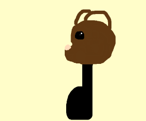 Bear music note thing