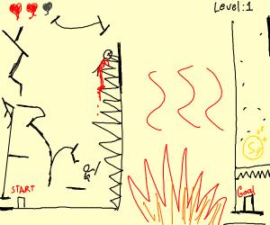 a platform game