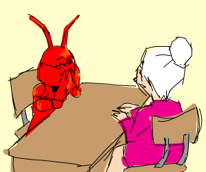 lobster hires old lady