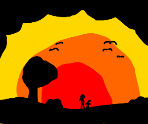 Stickman Sunset