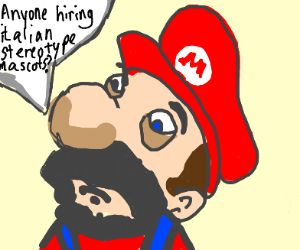 mario after he got fired from nintendo