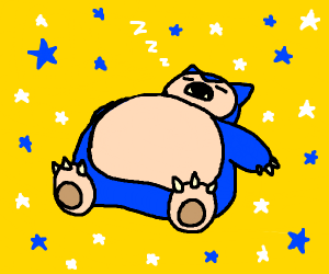 snorlax napping
