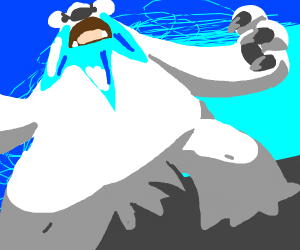 Bear with ice