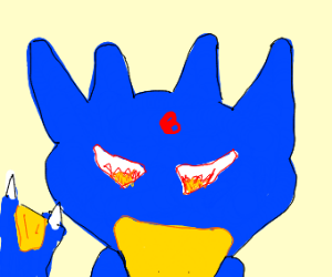 Evil blue golduck