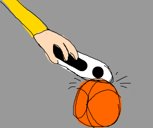 Tapping a ball with an I