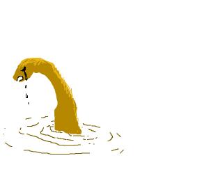 A very sad loch ness monster