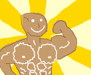 Buff gingerbred man