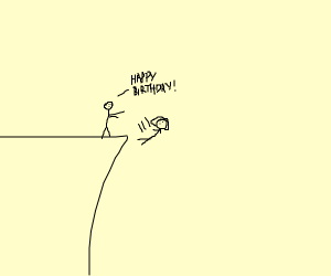 Girl falls off a cliff on her birthday