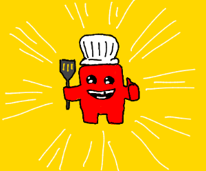 Meat boy is a chef