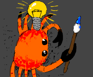 Crab has an artistic idea