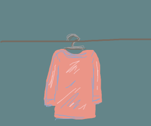 a red jumper on a hanger