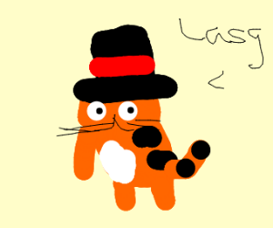Garfield with a Tophat