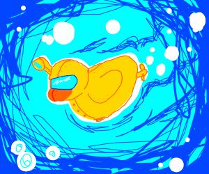 Yellow duck submarine