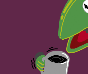kermit cant live without coffee