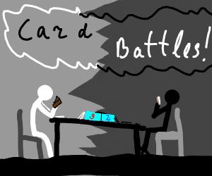 Black StickMan Versus WhiteStickMan Card Batt