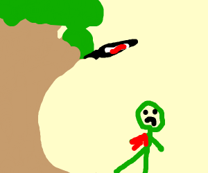 Viet Cong tree scaring a soldier