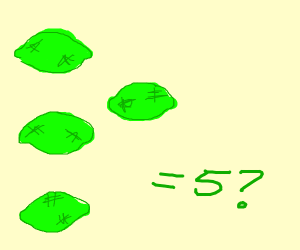 ...... four limes equals five