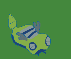 A teal and yellow Pokemon. Dunsparce?