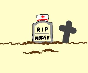 Nurse after an ER shift