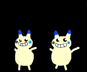 Minun (pokemon) but they are Sans Undertale