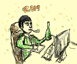 Spending new years playing Drawception.