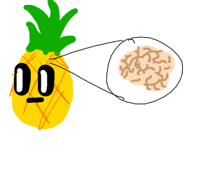 pineapple has a brain inside