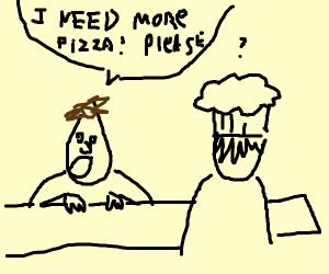 More pizza, please