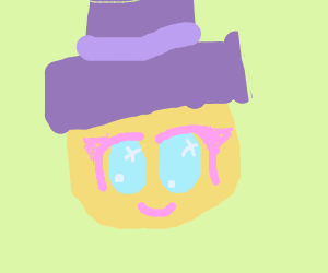 cute orange wearing a top hat