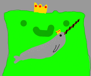 A narwhale in a slime