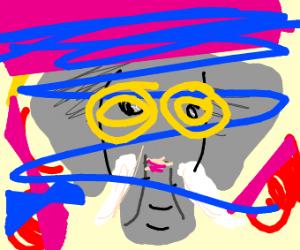 Elephant on drugs (LSD)