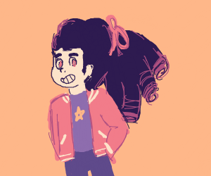 Steven with long hair (Steven Universe)