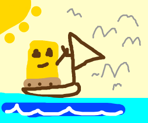 Spongebob Sailing
